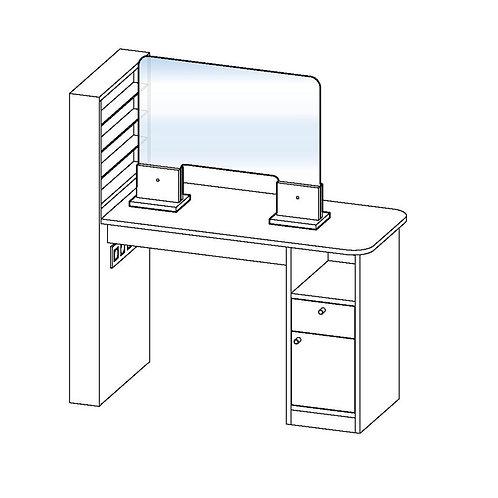 Separador para mesa de manicura (con apertura)