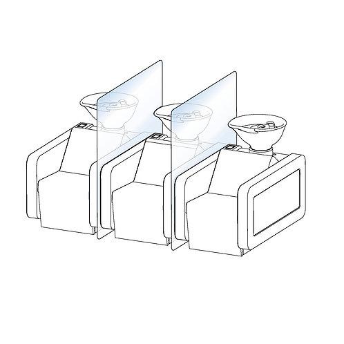 Separador de lavacabezas (sin base)