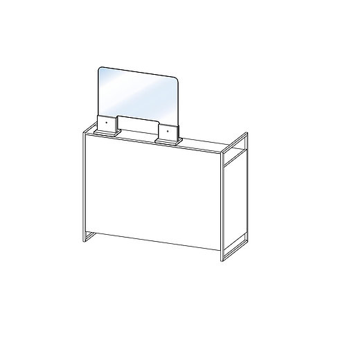 Separador para mesa de recepción (con apertura)