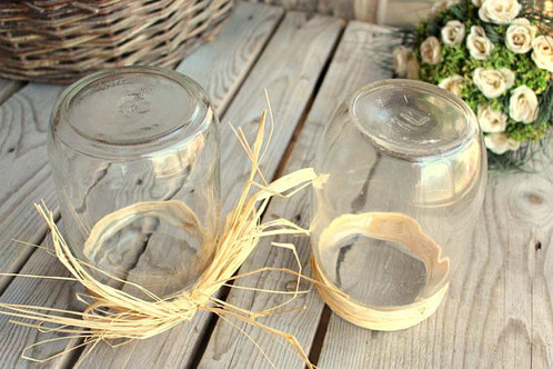 French Glass Jars Set Of 2 Kitchen Glass Container Duralex