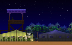 pixel-art, Base camp