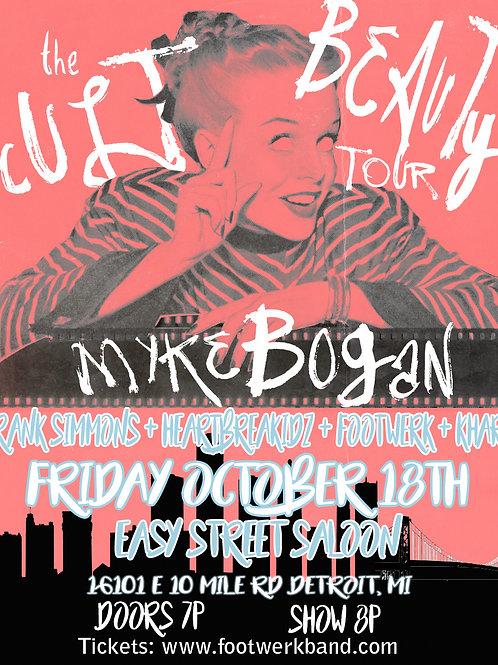 Myke Bogan / Khary / Footwerk @ Easy Street Saloon DETROIT 10/18/19