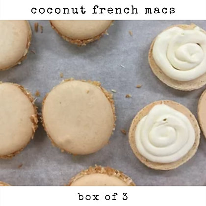 coconut french macs