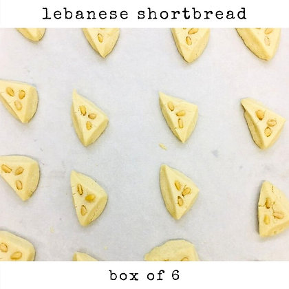 lebanese shortbread / box of 6