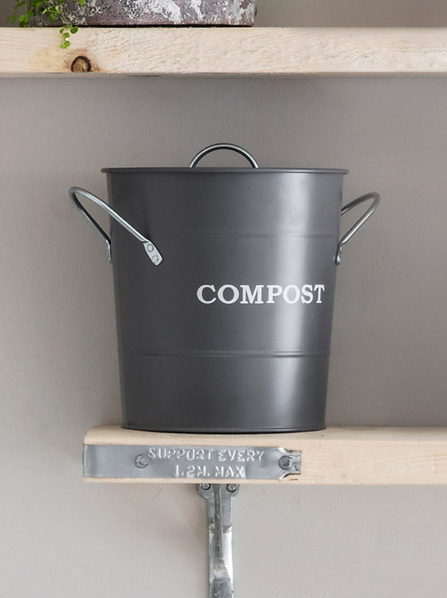 GARDEN TRADING COMPOST BUCKET CHARCOAL