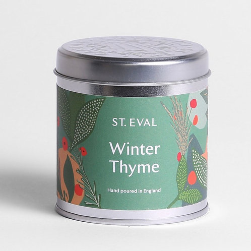 St Eval Candle Company Winter Thyme Scented Christmas Tin