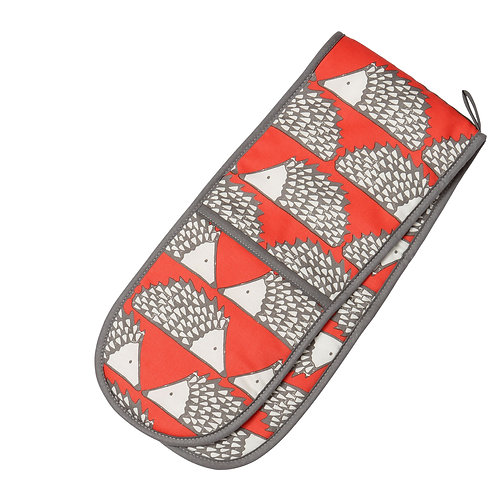 SCION LIVING SPIKE DOUBLE OVEN GLOVE RED