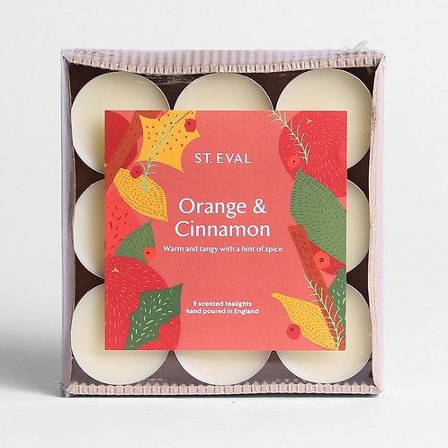 St Eval Candle Company Orange & Cinnamon Scented Christmas Tealights
