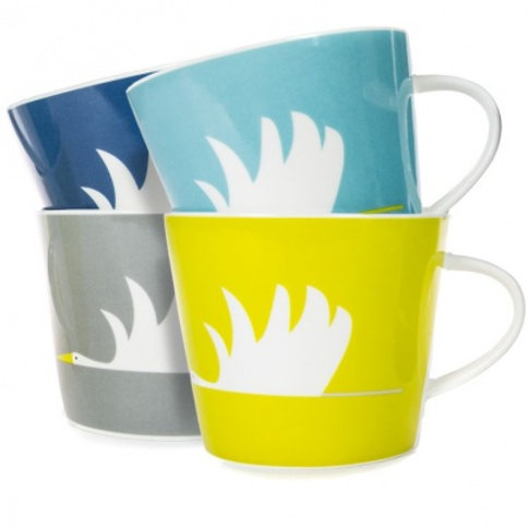 SCION LIVING COLIN CRANE MUG SET OF 4 IN GIFT BOX