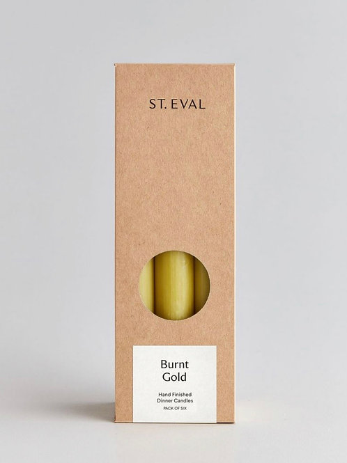 """St Eval Candle Company 8"""" Burnt Gold Dinner Candles Gift Pack"""