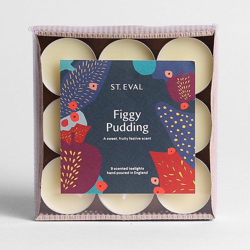 St Eval Candle Company Figgy Pudding Scented Christmas Tealights