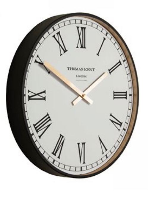 "16"" Clocksmith Wall Clock Black"