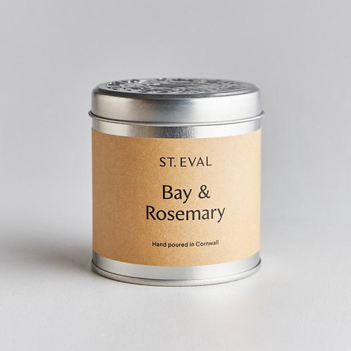 St Eval Candle Company Bay & Rosemary Scented Tin Candle