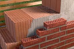 Зидария, преградни стени, зидане