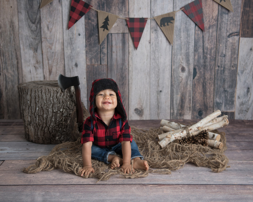 Lumberjack first birthday photos