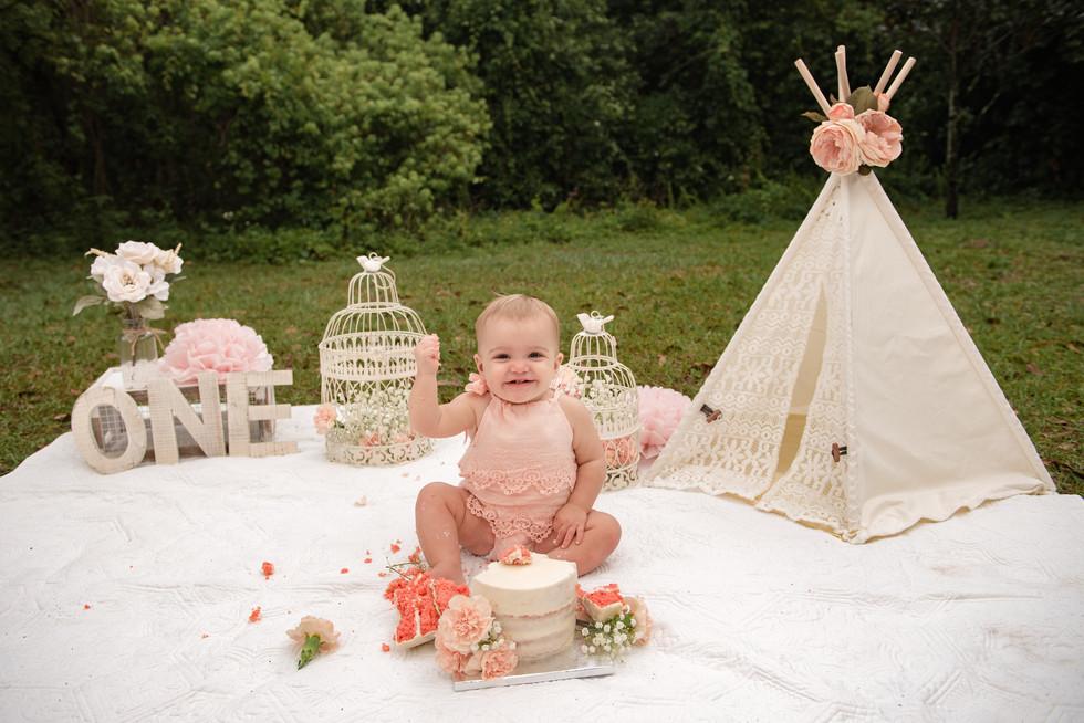 boho first birthday photoshoot