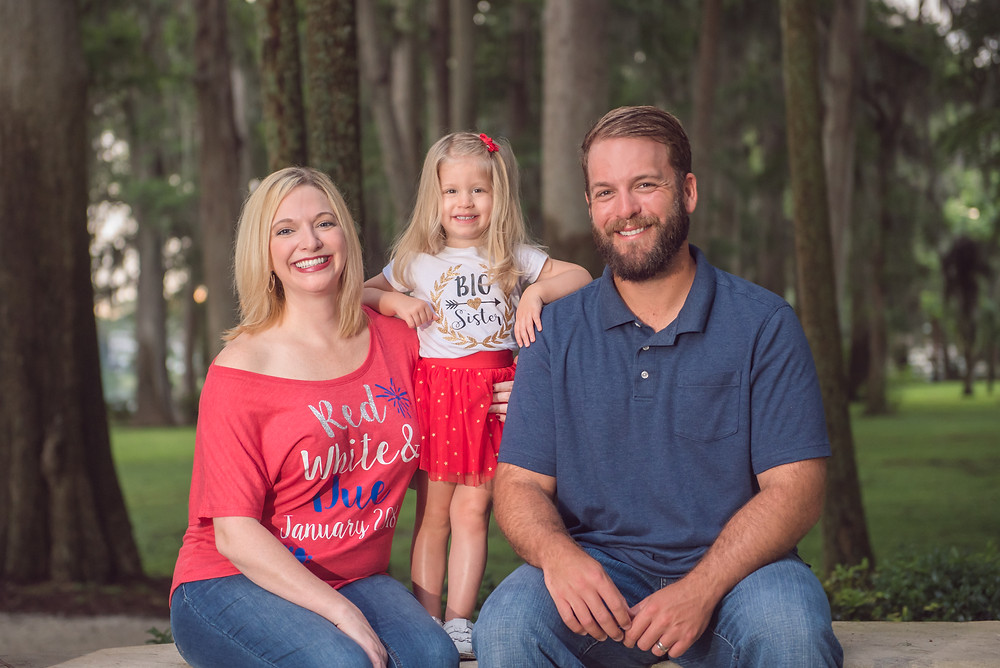 4th of July themed family pregnancy announcement