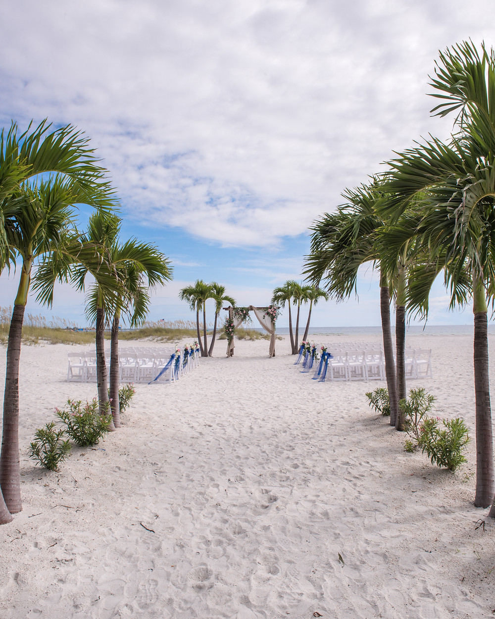 ceremony site at Grand Plaza Hotel in St Pete Beach Florida