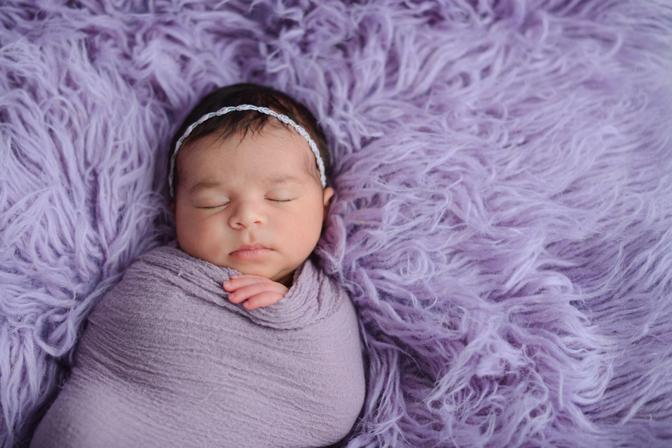 lavender newborn baby girl