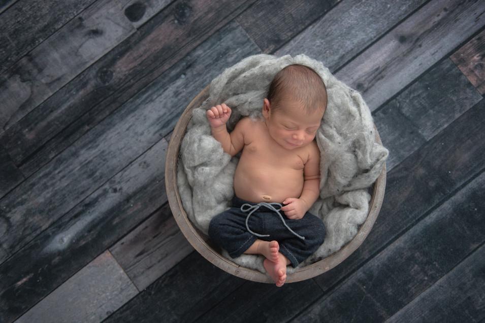 baby boy newborn session