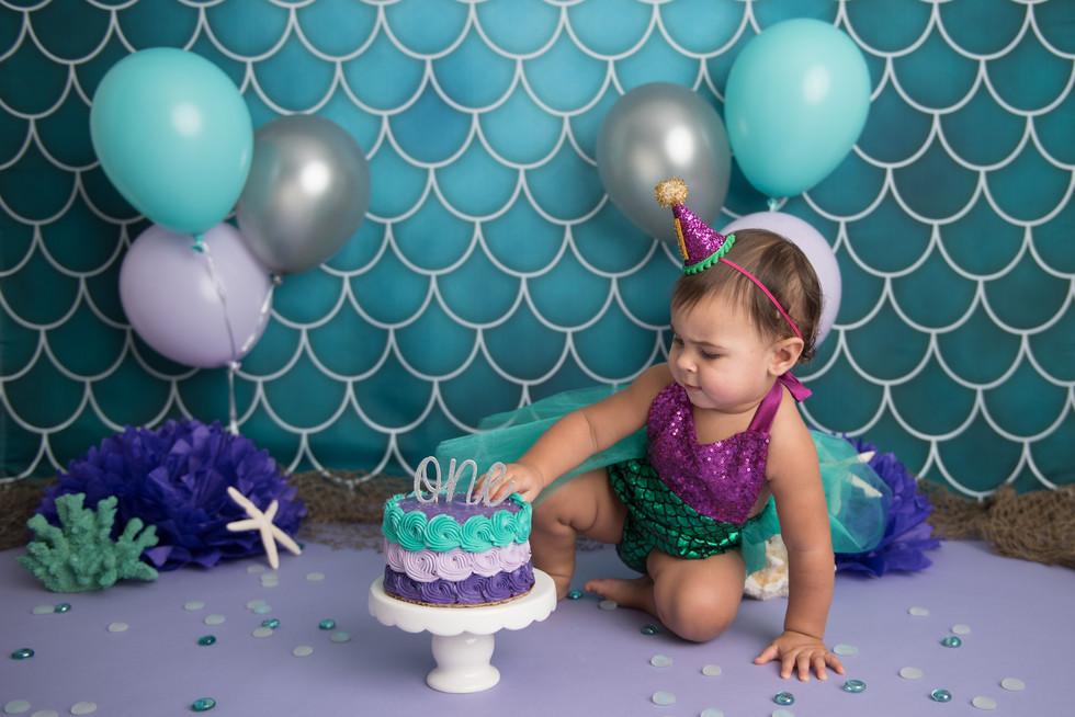 mermaid first birthday photoshoot