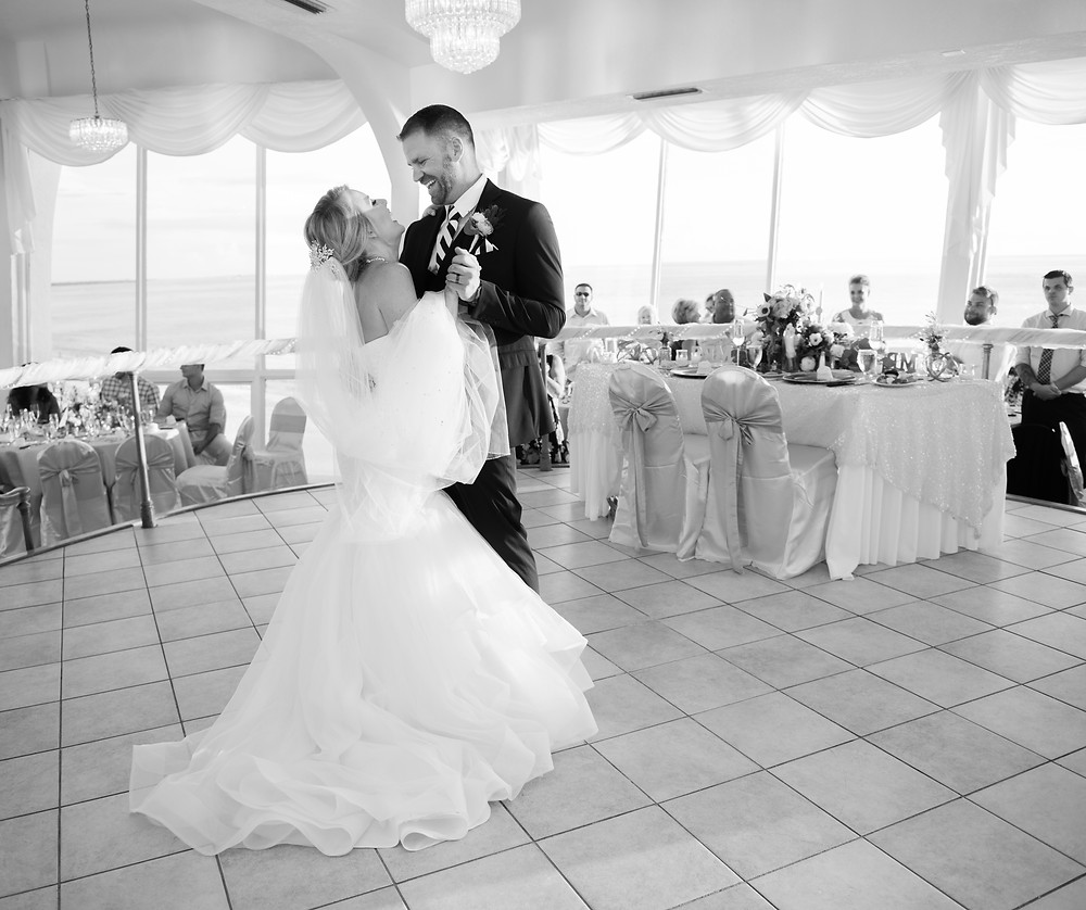 First dance in the Presidential Ballroom at the Grand Plaza hotel in St Pete Beach Florida