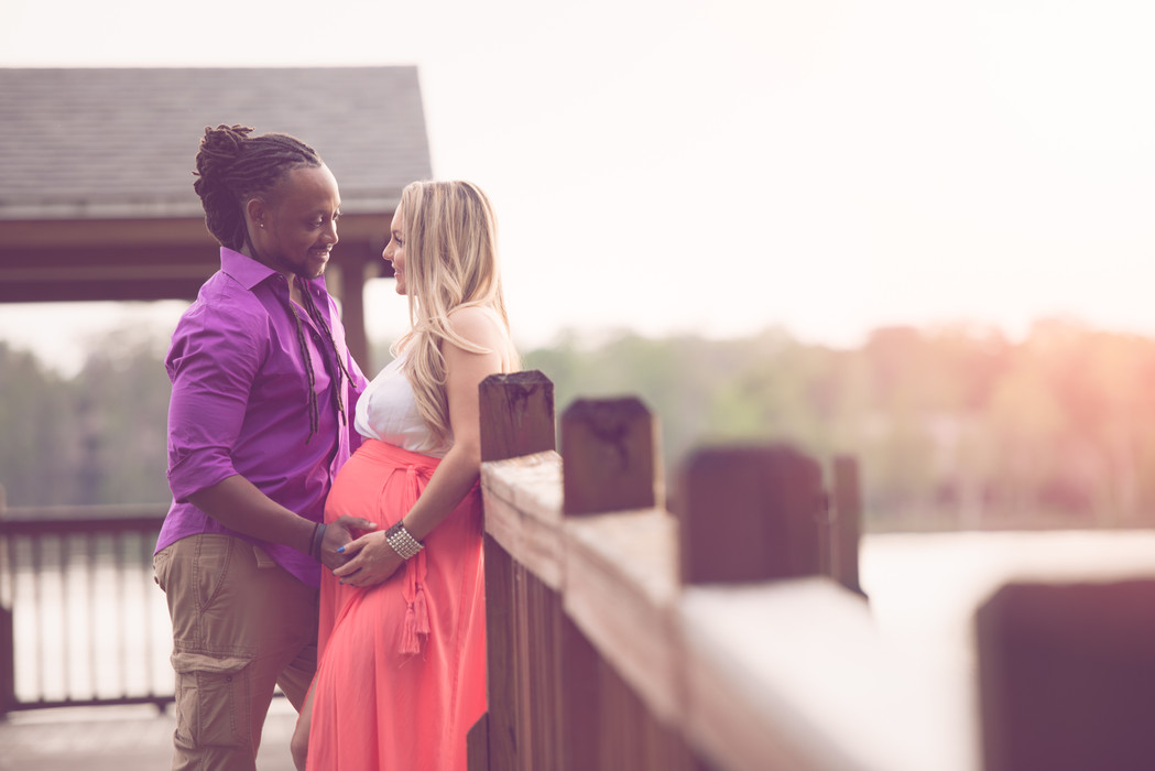 interracial couple maternity session