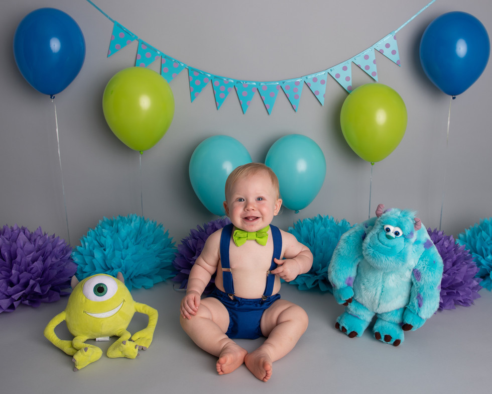 Monsters Inc first birthday photos