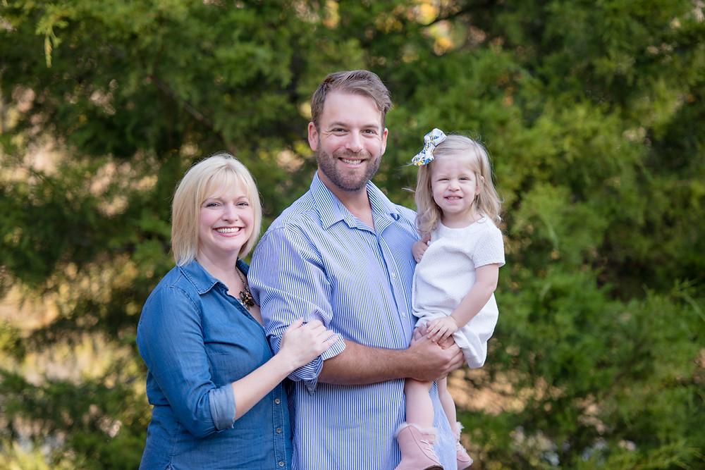 Christmas mini session family portrait