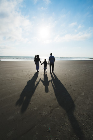 beach family portrait session