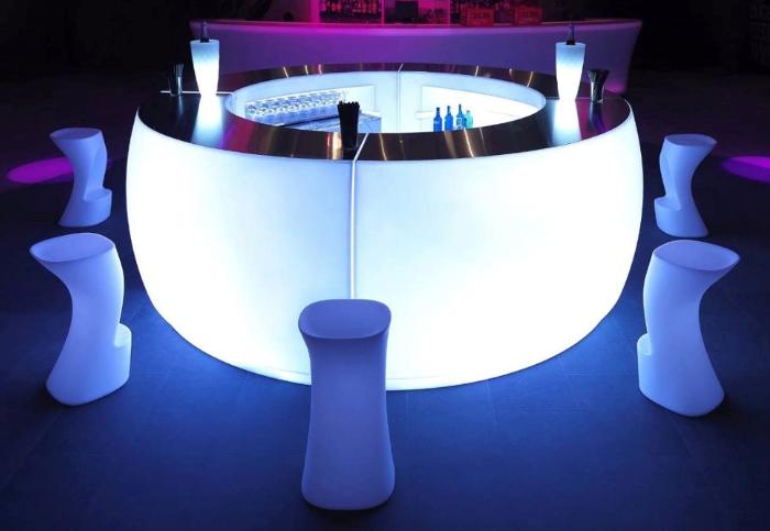 Bar lumineux - FIESTA courbe