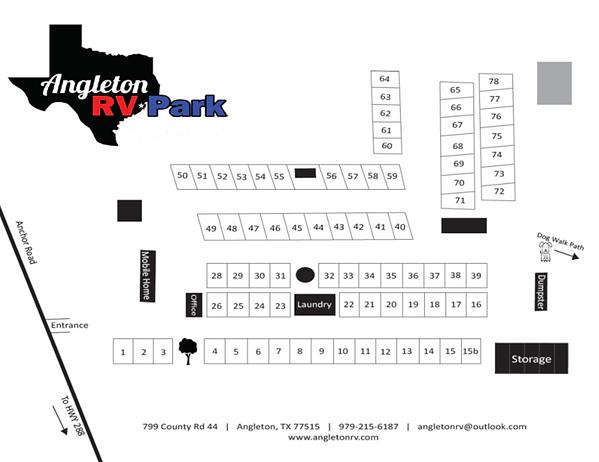 Angleton RV Park Map