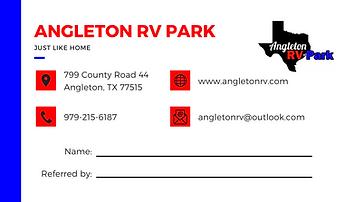 RV Park Referral Card