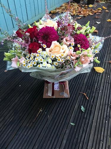 Large aqua pack bouquet
