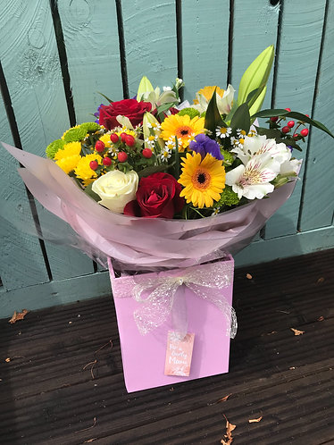 Multicoloured  extra large  bouquet  in water