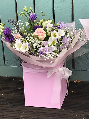 Purple  ivory pinks bouquet