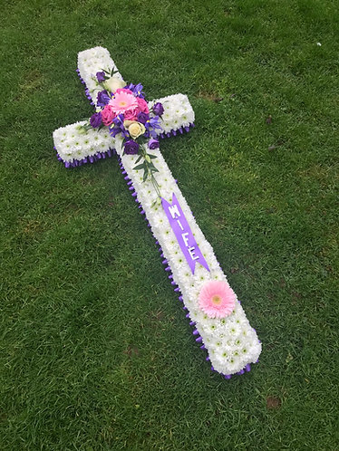 4ft white based cross