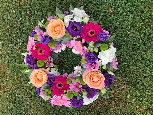 Multicoloured  wreath ring