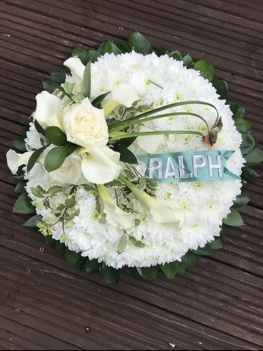 Posey pad calla lilies