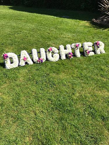 Daughter tribute