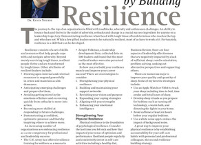Advancing Leadership Success by Building Resilience