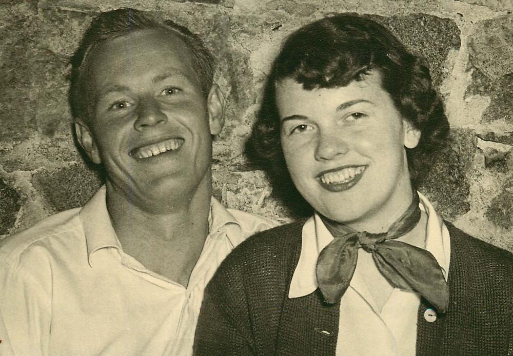 Jim and Maggie at Wally's Hot Springs Resorts 1951
