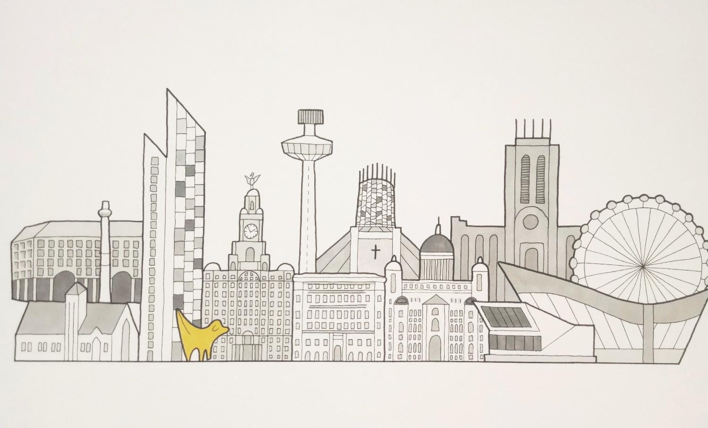 Image result for liverpool skyline