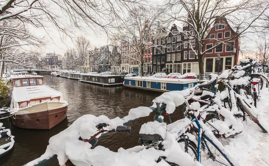 Neve em Amsterdã - Holanda