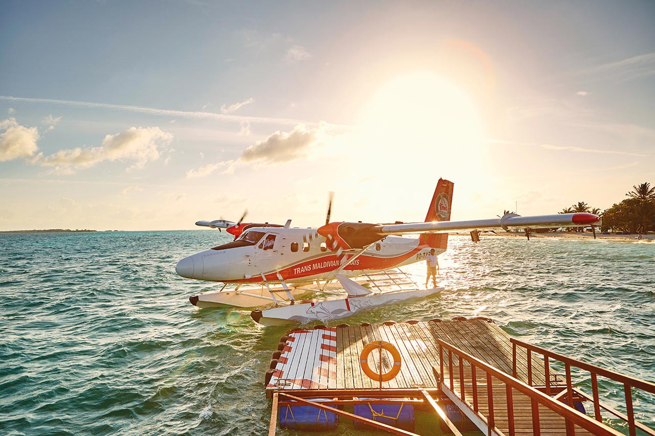 Chegada Hidroavião (Seaplane).