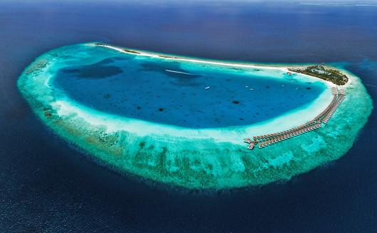 Vista aérea Finolhu Baa Atoll Maldives Resort.