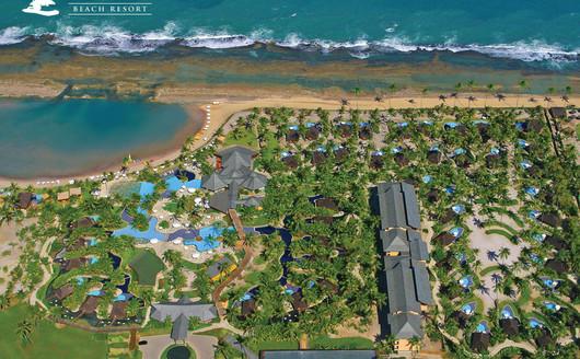 Vista Aérea do Piscina Nannai  Resort & Spa