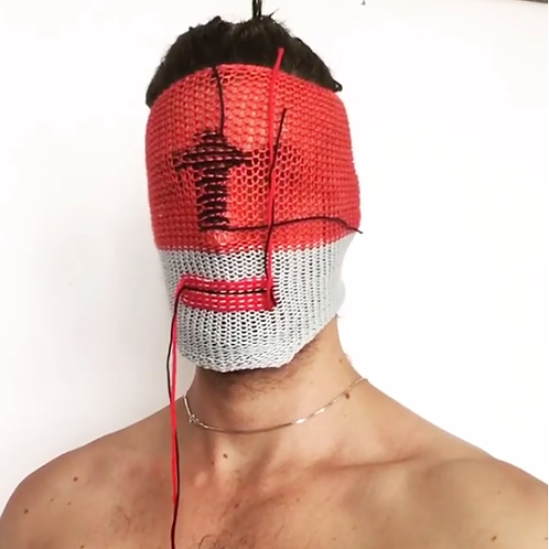 A Knitted mask