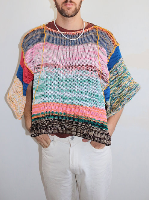 Thousand colors, one sweater-cape