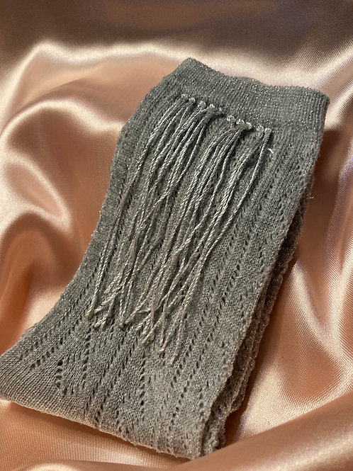 Cowgurl fringes socks in dark silver